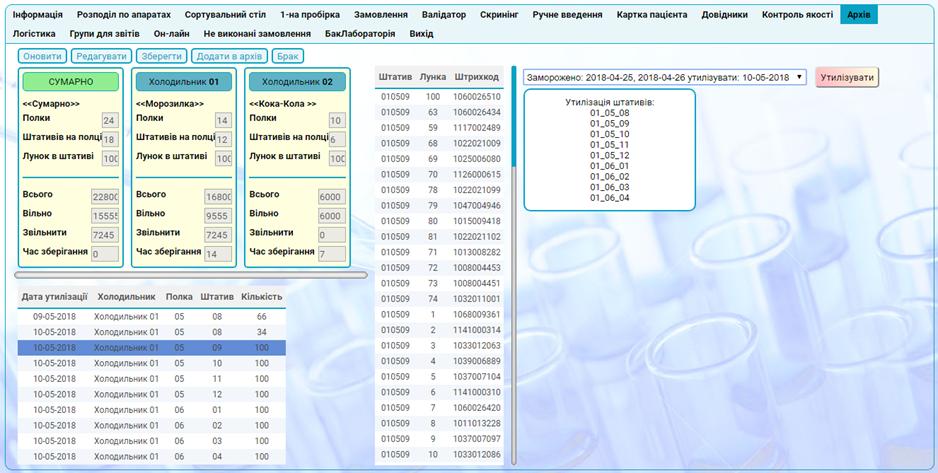 Программа для медицинской лаборатории архив материала